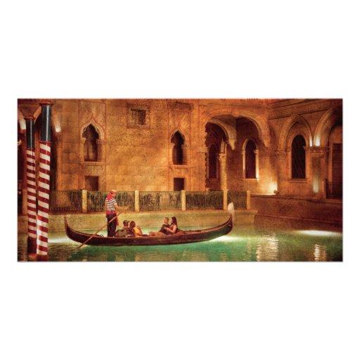 Vegas - Venetian - The Gondola's of Venice Photo Card