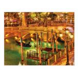 Vegas - Venetian - The Venetian at night Postcard