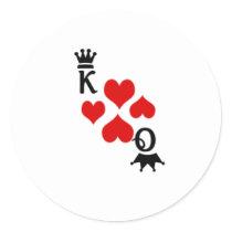 Vegas wedding classic round sticker