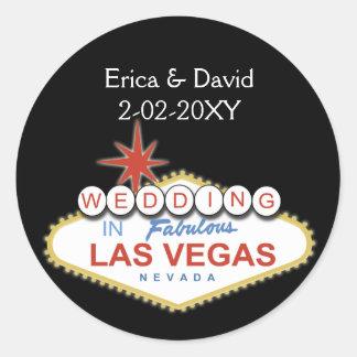 Vegas wedding envelope seal