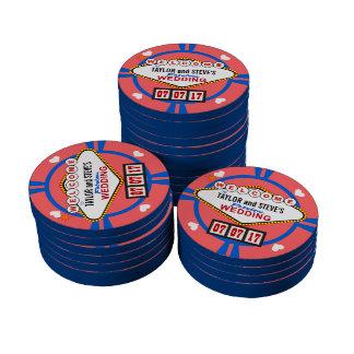 Vegas Wedding Favor Casino Poker Chips