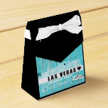 """Vegas Wedding Gift Ideas - Favor Boxes Teal Wood<br><div class=""""desc"""">Your source for Las Vegas wedding gift ideas. If you are planning a unique Las Vegas wedding and looking for wedding favors to remember your special day then this Vegas Bride tote bag is perfect for the occasion. Order it for your Las Vegas wedding favors and give your guests a...</div>"""