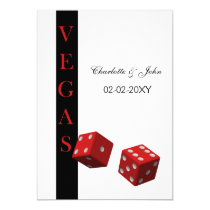 vegas wedding invitation