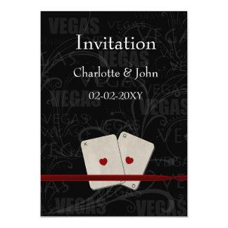 vegas wedding invitation