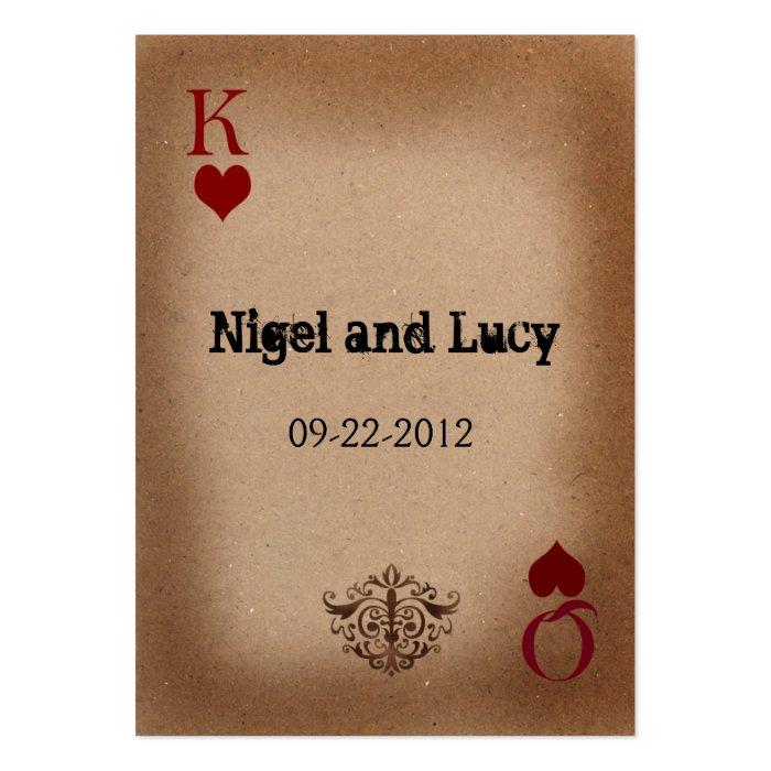 vegas wedding invites large business card