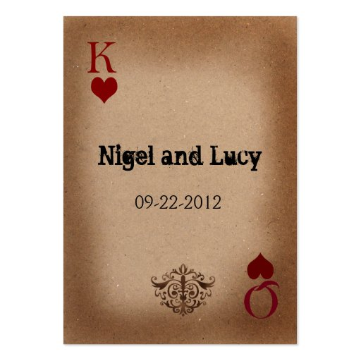vegas wedding invites large business cards (Pack of 100)