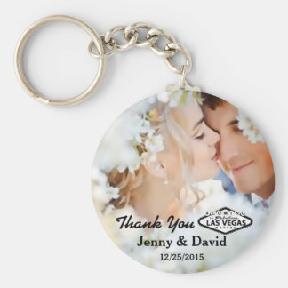 Vegas Wedding Personalized Key Ring Wedding Favor Keychain