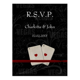 Vegas Wedding rsvp card