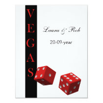Vegas wedding rsvp cards