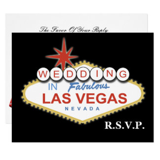 Vegas wedding rsvp cards