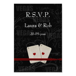 Vegas wedding rsvp cards standard 3.5 x 5