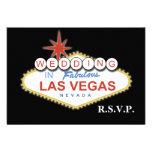 Vegas wedding rsvp cards standard 3.5 x 5 custom announcements