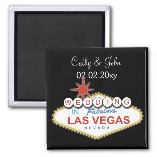 Vegas wedding  Save the date magnet