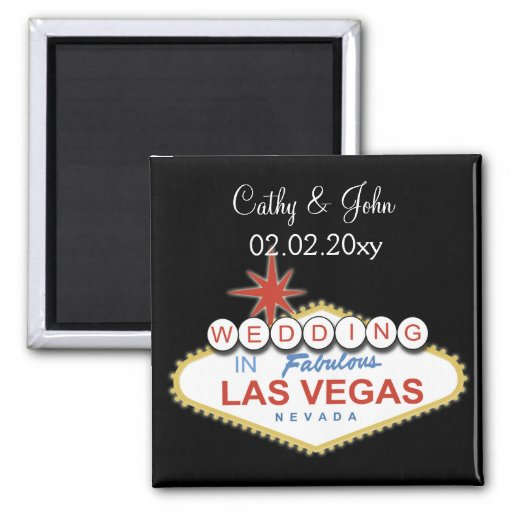 Vegas wedding  Save the date magnet Magnets