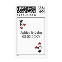 Vegas  wedding stamps