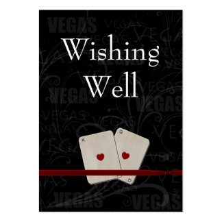 vegas wedding wishing well cards large business cards (Pack of 100)