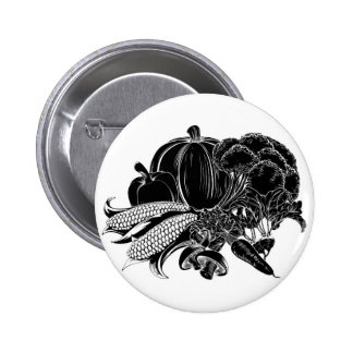 Vegatables food icon pinback buttons