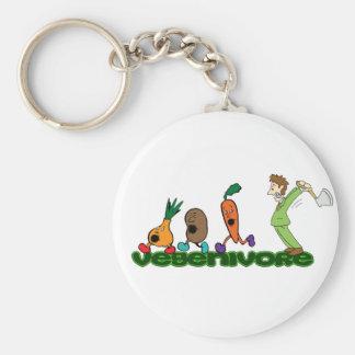 Vegenivore Basic Round Button Keychain