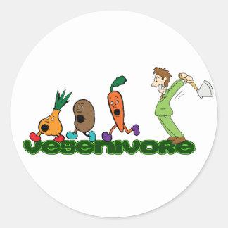 Vegenivore Classic Round Sticker