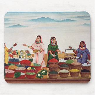 Vegetable and Spice Market at Benares, c.1840 (gou Mouse Pad