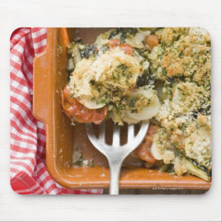 Vegetable bake with potatoes, tomatoes, leeks mouse pad
