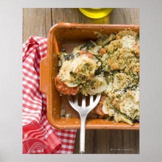 Vegetable bake with potatoes, tomatoes, leeks print