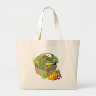 Vegetable Basket Large Tote Bag