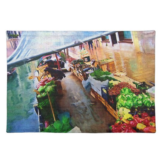 Vegetable Boat Venice Italy Placemat