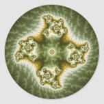 Vegetable Cell - Fractal Art Classic Round Sticker