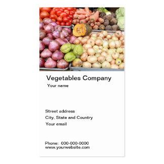 Vegetable company business card