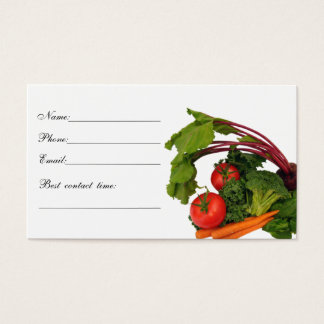 Vegetable Contact Card 1