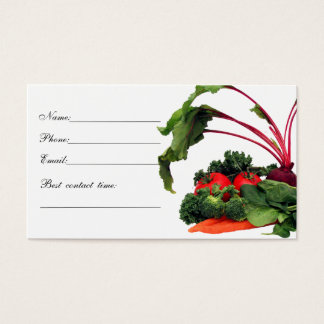 Vegetable Contact Card 2