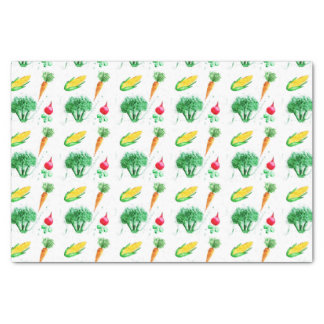 Vegetable design for craft and kitchen tissue paper
