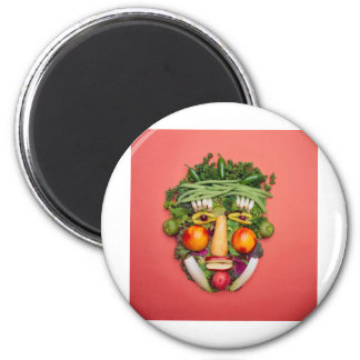 Vegetable Face 2 Inch Round Magnet
