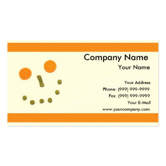 Vegetable Face Business Card