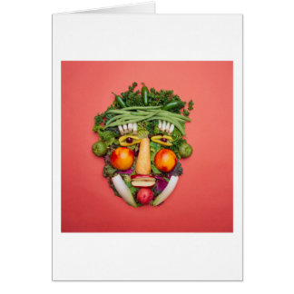 Vegetable Face Greeting Card
