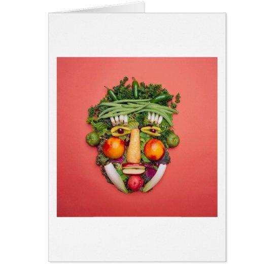 Vegetable Face Card