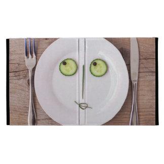 Vegetable Face iPad Folio Case