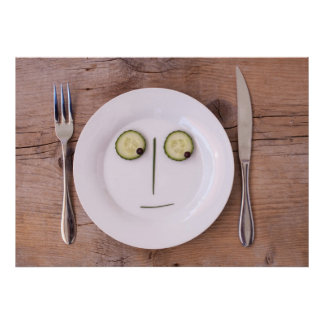 Vegetable Face Poster
