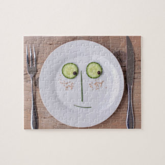 Vegetable Face Puzzles
