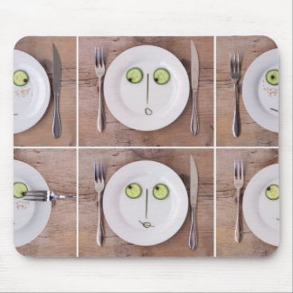 Vegetable Faces Mouse Pad