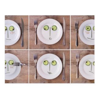Vegetable Faces Postcard