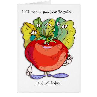 vegetable farewell greeting card