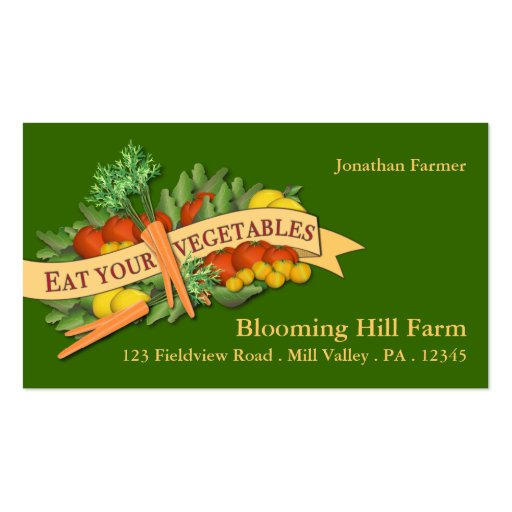 Vegetable Farm Market Agriculture Business Card