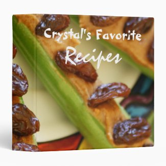 Vegetable Favorite Recipe 3 Ring Binder