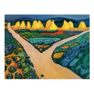 Vegetable Fields (1911) by August Macke Post Card