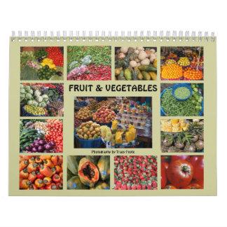Vegetable Fruit Food Calendar 2016