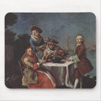 Vegetable Garden At River Mouth by Pietro Longhi Mouse Pads