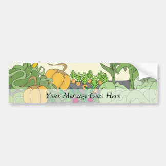 Vegetable Garden Car Bumper Sticker