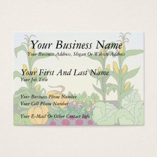 Vegetable Garden Business Card